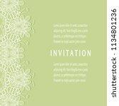 invitation or card templates...   Shutterstock .eps vector #1134801236