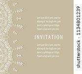 invitation or card templates...   Shutterstock .eps vector #1134801239