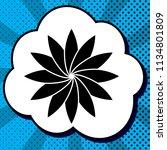 flower sign. vector. black icon ... | Shutterstock .eps vector #1134801809
