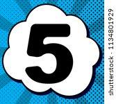 number 5 sign design template... | Shutterstock .eps vector #1134801929