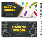 back to school promo banner... | Shutterstock .eps vector #1134803090
