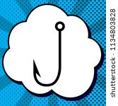 fishing hook sign illustration. ... | Shutterstock .eps vector #1134803828