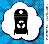 trashcan sign illustration....   Shutterstock .eps vector #1134803843