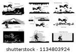 underwater recreational and... | Shutterstock .eps vector #1134803924