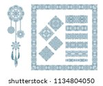 set of vector decorative... | Shutterstock .eps vector #1134804050