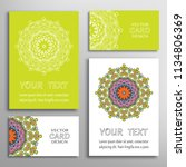 greeting and business cards set....   Shutterstock .eps vector #1134806369