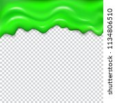 green seamless dripping slime.
