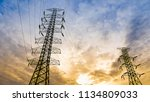 electricity transmission power...   Shutterstock . vector #1134809033