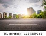 city center and wide asphalt... | Shutterstock . vector #1134809363