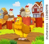 the farm event   farm animals   ... | Shutterstock . vector #113480998