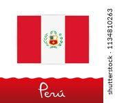 peruvian flag  peru   Shutterstock .eps vector #1134810263