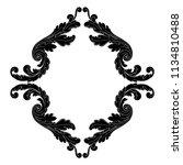 retro baroque decorations... | Shutterstock .eps vector #1134810488
