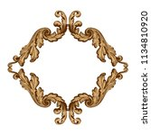 retro baroque decorations... | Shutterstock .eps vector #1134810920
