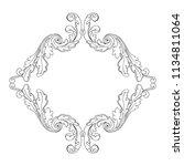retro baroque decorations... | Shutterstock .eps vector #1134811064