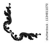 retro baroque decorations... | Shutterstock .eps vector #1134811070