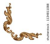 retro baroque decorations... | Shutterstock .eps vector #1134811088
