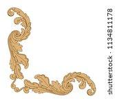 retro baroque decorations... | Shutterstock .eps vector #1134811178