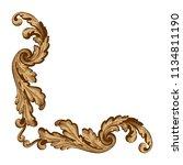 retro baroque decorations... | Shutterstock .eps vector #1134811190