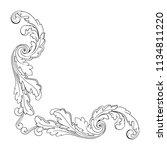 retro baroque decorations... | Shutterstock .eps vector #1134811220