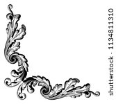 retro baroque decorations... | Shutterstock .eps vector #1134811310