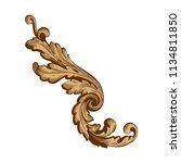 retro baroque decorations... | Shutterstock .eps vector #1134811850