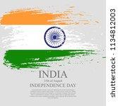 indian flag tri color based...   Shutterstock .eps vector #1134812003