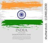 indian flag tri color based...   Shutterstock .eps vector #1134812030