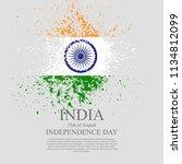 indian flag tri color based...   Shutterstock .eps vector #1134812099