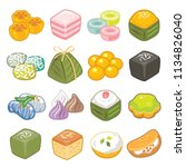 thai dessert vector set | Shutterstock .eps vector #1134826040