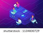 marketing strategy isometric... | Shutterstock .eps vector #1134830729