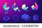 isometric developers ... | Shutterstock .eps vector #1134830783