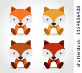 baby animal collection   vector ... | Shutterstock .eps vector #1134836438