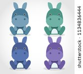 baby animal collection   vector ... | Shutterstock .eps vector #1134836444