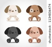 baby animal collection   vector ... | Shutterstock .eps vector #1134836474