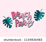 Beach Party Lettering With...
