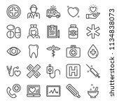 healthcare pixel perfect icons  ... | Shutterstock .eps vector #1134838073