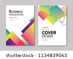 abstract modern geometric cover ... | Shutterstock .eps vector #1134839063