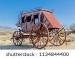 Stagecoach in desert