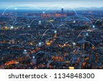 network and connection... | Shutterstock . vector #1134848300