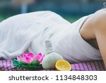 spa massage concept  close up... | Shutterstock . vector #1134848303