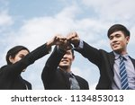 business teamwork concept ... | Shutterstock . vector #1134853013