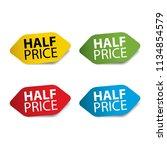 half price realistic sticker... | Shutterstock . vector #1134854579