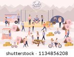indie festival poster with... | Shutterstock .eps vector #1134856208