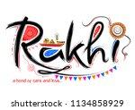 illustration of greeting card... | Shutterstock .eps vector #1134858929