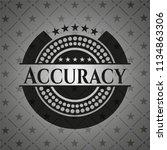 accuracy dark badge   Shutterstock .eps vector #1134863306
