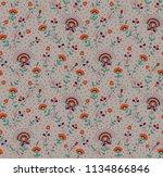 seamless silky floral pattern | Shutterstock . vector #1134866846