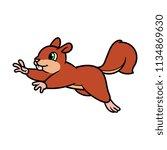 cartoon jumping squirrel   Shutterstock .eps vector #1134869630