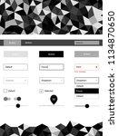 dark gray vector web ui kit in...