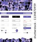 light purple vector ui ux kit...
