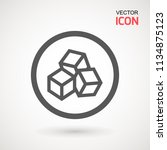 no sugar free vector icon.... | Shutterstock .eps vector #1134875123